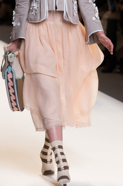 Fendi at Milan Spring 2017 (Details) [fashion,runway,clothing,fashion model,fashion show,footwear,haute couture,pink,joint,shoulder,footwear,socialite,fashion,runway,haute couture,model,clothing,fendi,milan fashion week,fashion show,runway,fashion show,haute couture,fashion,model,socialite]