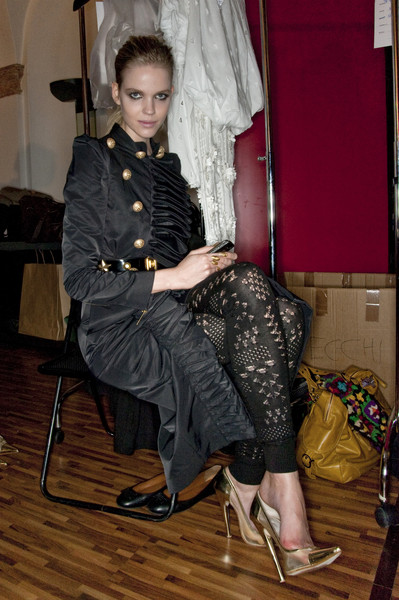 Gaetano Navarra at Milan Spring 2010 (Backstage)