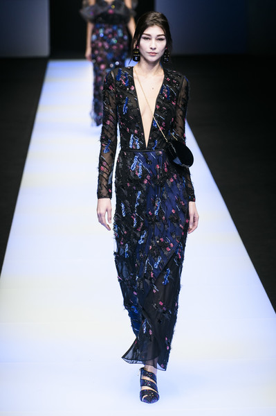 Giorgio Armani At Milan Fashion Week Fall 2018