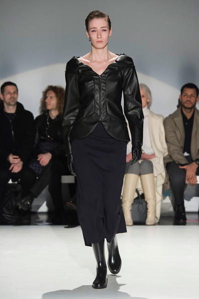 Hussein Chalayan at London Fall 2019 [fashion model,runway,fashion,fashion show,clothing,event,fashion design,leather,human,outerwear,hussein chalayan,fashion,fashion design,runway,fashion week,model,clothing,london fashion week,fashion show,event,hussein chalayan,london fashion week,runway,fashion show,fashion,fashion week,fashion design,model,ready-to-wear,haute couture]