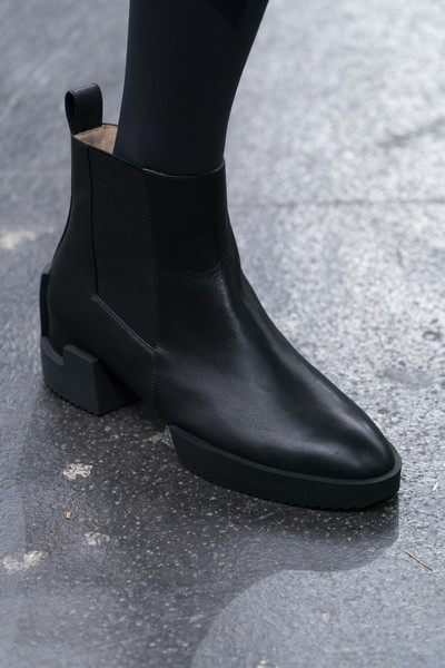 Issey Miyake at Paris Fall 2019 (Details) [footwear,boot,shoe,joint,riding boot,ankle,motorcycle boot,shoe,footwear,motorcycle boot,issey miyake,boot,riding boot,equestrianism,ankle,joint,paris fashion week,shoe,riding boot,boot,equestrianism]