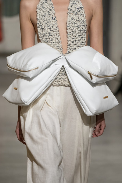 Jacquemus at Paris Fall 2019 (Details) [fashion show,white,fashion,haute couture,clothing,dress,fashion model,formal wear,hand,outerwear,fashion design,tutti,fashion,runway,jacquemus,haute,galateo,maniere,regole,paris fashion week fall,runway,fashion,haute couture,fashion show,fashion week,le regole delle buone maniere. impara il galateo e affascina tutti con la tua eleganza,supermodel,ready-to-wear,handbag,fashion accessory]