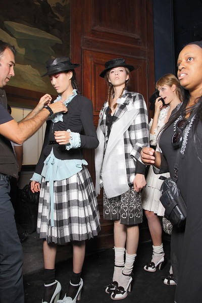 John Galliano at Paris Spring 2012 (Backstage)