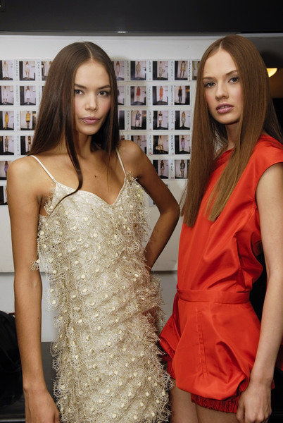 Krizia at Milan Spring 2008 (Backstage)