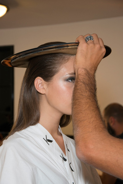 Krizia at Milan Spring 2013 (Backstage)