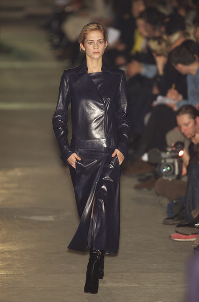 Lanvin at Paris Fall 2001 [fashion model,fashion show,runway,fashion,clothing,leather,outerwear,leather jacket,haute couture,fashion design,leather jacket,leather jacket,fashion,leather,runway,haute couture,jacket,model,paris fashion week,fashion show,fashion show,runway,fashion,haute couture,zado leather jacket,model,socialite,leather jacket,jacket,leather]