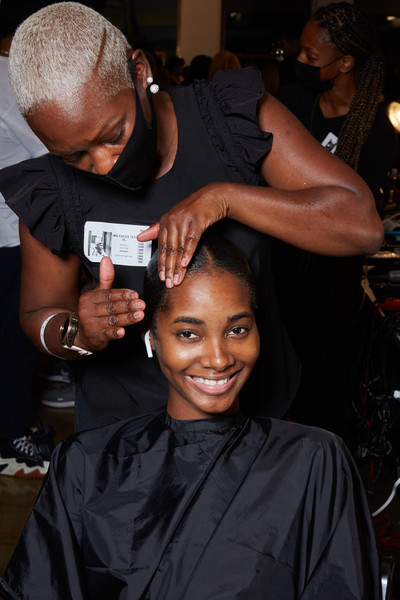 Laquan Smith at New York Spring 2022 (Backstage) [laquan smith,new york fashion week]