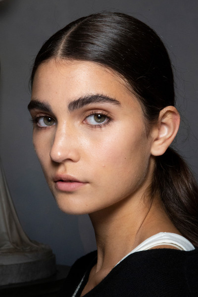 Luisa Beccaria at Milan Spring 2020 (Backstage) [make-up artist,hair,face,eyebrow,hairstyle,chin,cheek,lip,forehead,beauty,nose,face powder,beauty,face,fashion,hair integrations,makeup,eye shadow,rouge,milan fashion week,beauty,facial makeup,fashion,face,eye shadow,instyle,artificial hair integrations,face powder,rouge,make-up artist]