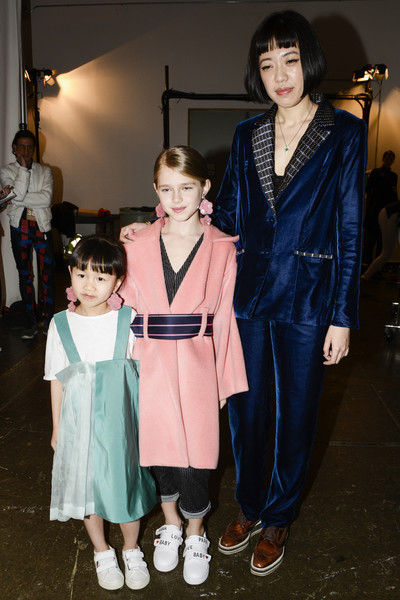 Lujin Zhang at New York Fall 2018 (Backstage)