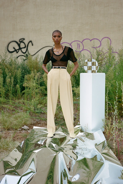 Maiden Name at New York Spring 2022 [photograph,plant,photograph,grass,happy,street fashion,grass family,formal wear,fashion design,event,font,green,fashion,grass,name,flower,wear,fashion design,plant,new york fashion week,fashion,flower,green]