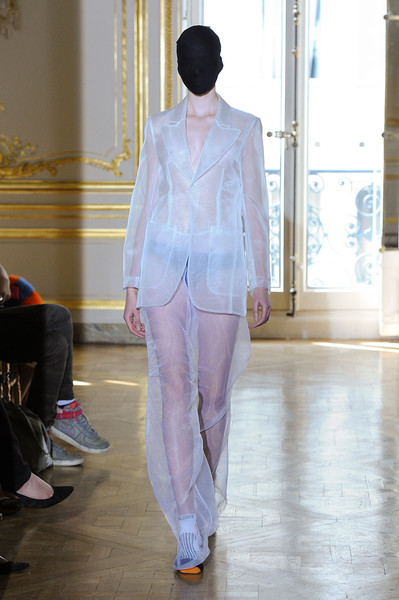 Maison Martin Margiela at Couture Fall 2011 [fashion,white,clothing,runway,fashion show,fashion model,haute couture,pantsuit,pink,suit,couture fall,maison martin margiela,runway,fashion,haute couture,model,fashion design,fashion model,pink,fashion show,runway,fashion show,haute couture,fashion,maison margiela,model,fashion design,ready-to-wear]