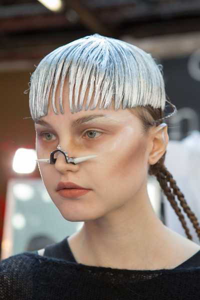 Manish Arora at Paris Fall 2015 (Backstage) [hair,face,hairstyle,blond,hair coloring,beauty,head,fashion,chin,eyebrow,blond,manish arora,fashion,hair coloring,beauty,hairstyle,pixie cut,bob cut,paris fashion week,fashion show,bangs,fashion,beauty,fashion show,hairstyle,hair coloring,pixie cut,bob cut,blond,fashion week]