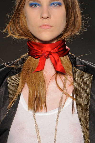 Marc by Marc Jacobs at New York Spring 2014 (Details) [hair,lip,clothing,hairstyle,red,beauty,neck,chin,hair coloring,scarf,supermodel,hair,brown hair,hair,fashion,hairstyle,model,beauty,red,new york fashion week,brown hair,hair m,bangs,model,fashion,long hair,blond,supermodel,hair,beauty.m]
