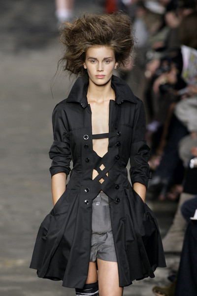 Marithé + François Girbaud at Paris Spring 2010 [fashion model,fashion show,fashion,runway,clothing,coat,outerwear,overcoat,trench coat,public event,supermodel,runway,fashion,trench coat,model,haute couture,coat,marithe francois girbaud,paris fashion week,fashion show,runway,fashion show,fashion,model,supermodel,haute couture,marith\u00e9 et fran\u00e7ois girbaud,girbaud,trench coat]