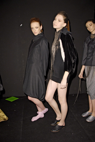 Milia M at Milan Fall 2008 (Backstage)