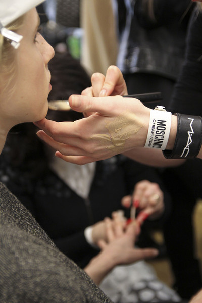 Moschino Cheap & Chic at London Fall 2012 (Backstage)
