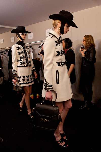 Moschino at Milan Fall 2012 (Backstage)