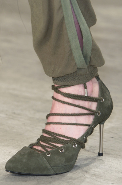 Rope Lace-Up Heels