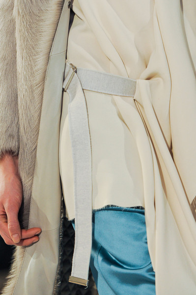 Nicole Farhi at London Fall 2014 (Details) [clothing,white,outerwear,beige,coat,fur,fashion,trench coat,blazer,jacket,outerwear,nicole farhi,fashion,coat,beige,model,clothing,white,trench coat,london fashion week,coat,beige,model,fashion]