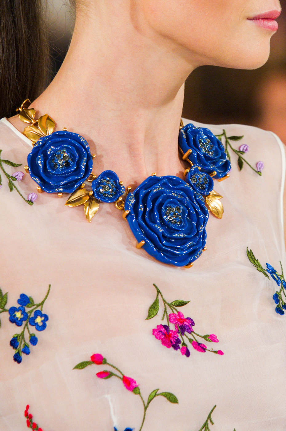 Floral bibs at oscar de la renta best jewelry from new for New top jewelry nyc prices