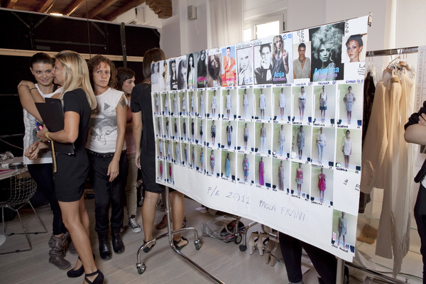 Paola Frani at Milan Spring 2011 (Backstage)