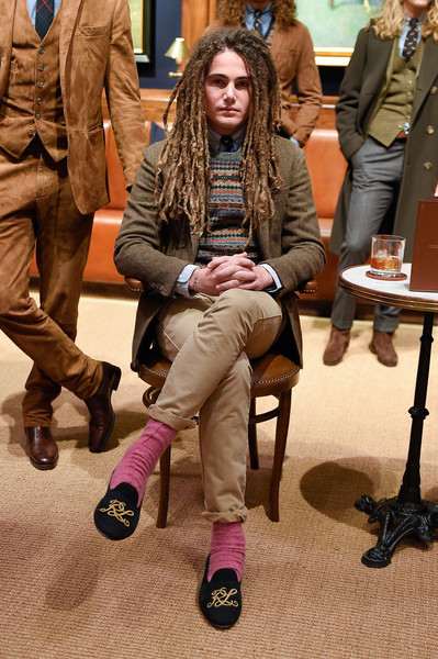 Polo Ralph Lauren at New York Fall 2016 [autumn,fashion,footwear,human,sitting,outerwear,event,shoe,style,shoe,footwear,outerwear,human,fashion,polo ralph lauren,new york fashion week,fashion show,event,ralph lauren corporation,fashion,shoe,new york fashion week,fashion show,autumn,clothing,menswear,preppy]