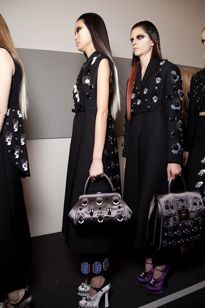 Prada at Milan Fall 2012 (Backstage)