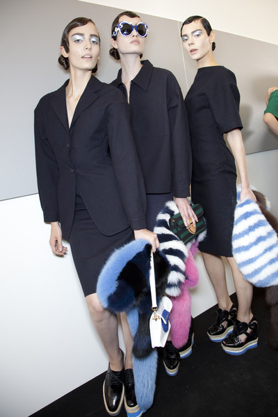 Prada at Milan Spring 2011 (Backstage)