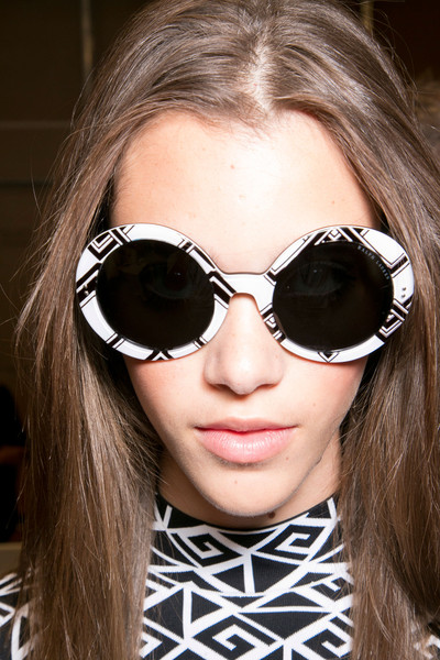 Ralph Lauren at New York Spring 2014 (Backstage) [eyewear,sunglasses,hair,glasses,face,cool,lip,hairstyle,vision care,eyebrow,sunglasses,goggles,ralph lauren,glasses,fashion,health,eyewear,hairstyle,lip,new york fashion week,sunglasses,glasses,goggles,fashion,health,beauty.m]