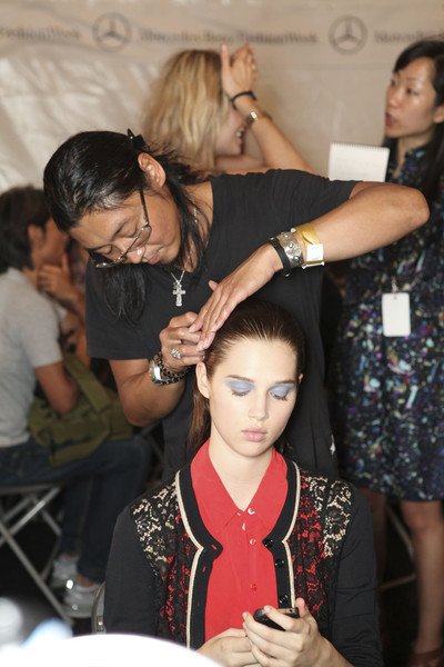 Rebecca Taylor at New York Spring 2012 (Backstage)