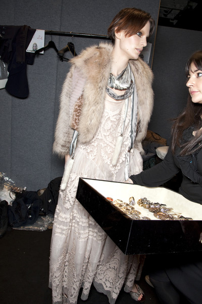 Roberto Cavalli at Milan Fall 2010 (Backstage)