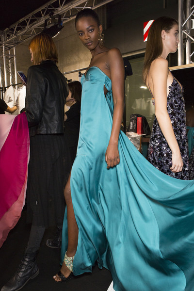 Backstage at Salvatore Ferragamo