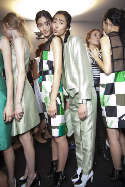 Sportmax at Milan Spring 2013 (Backstage)