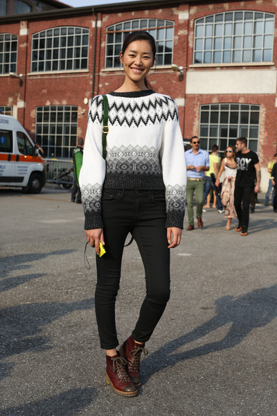Oxford Boots   a Chunky Fair Isle Sweater - Street Style Spotlight ...