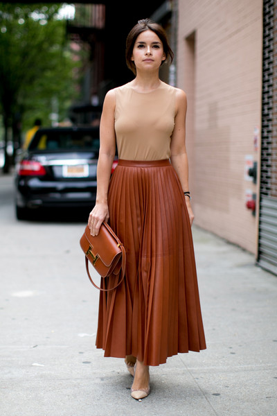 Pleated Leather