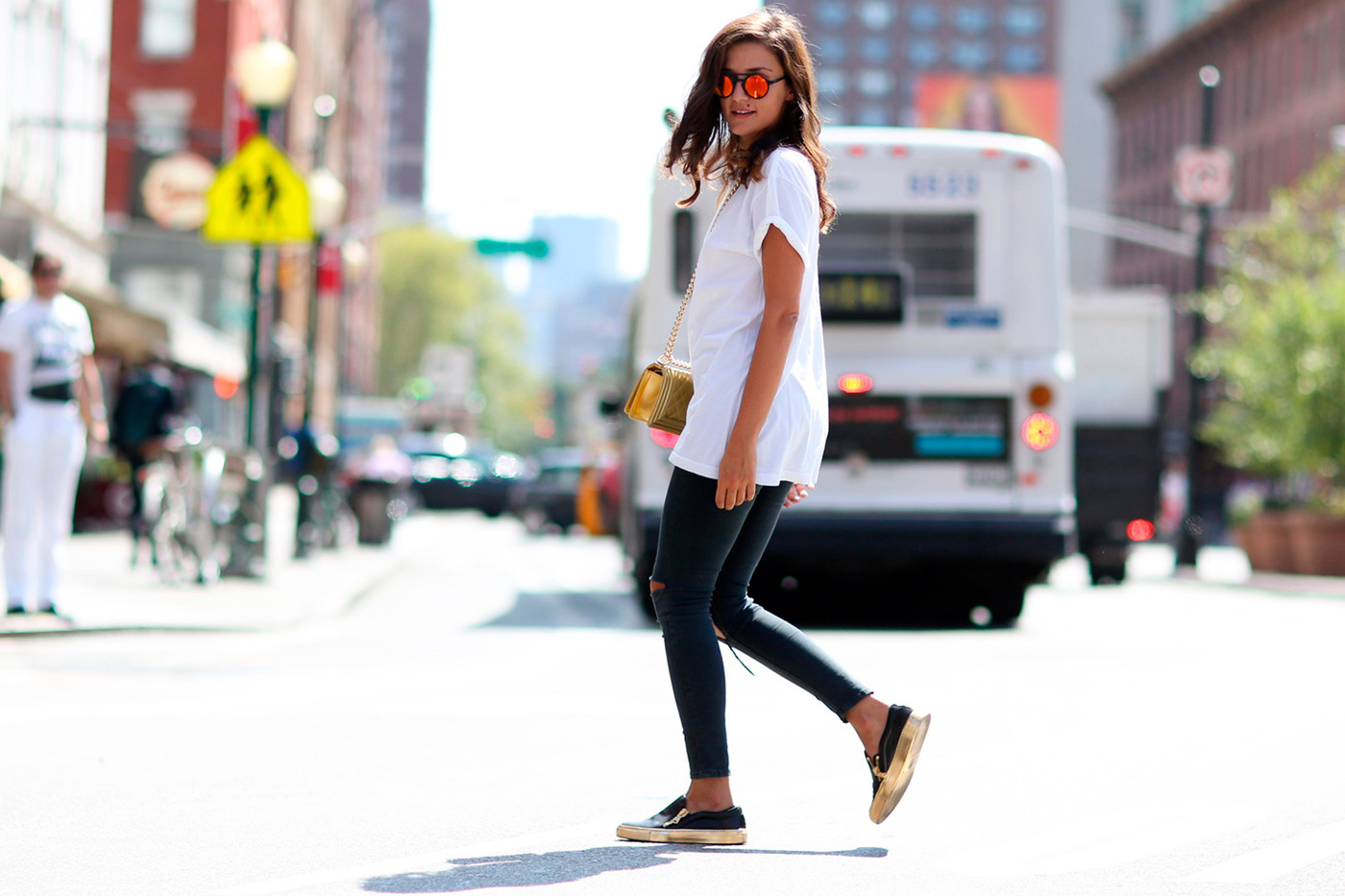 Metallic Maven Best Street Style From New York Fashion Week Spring 2015 Livingly