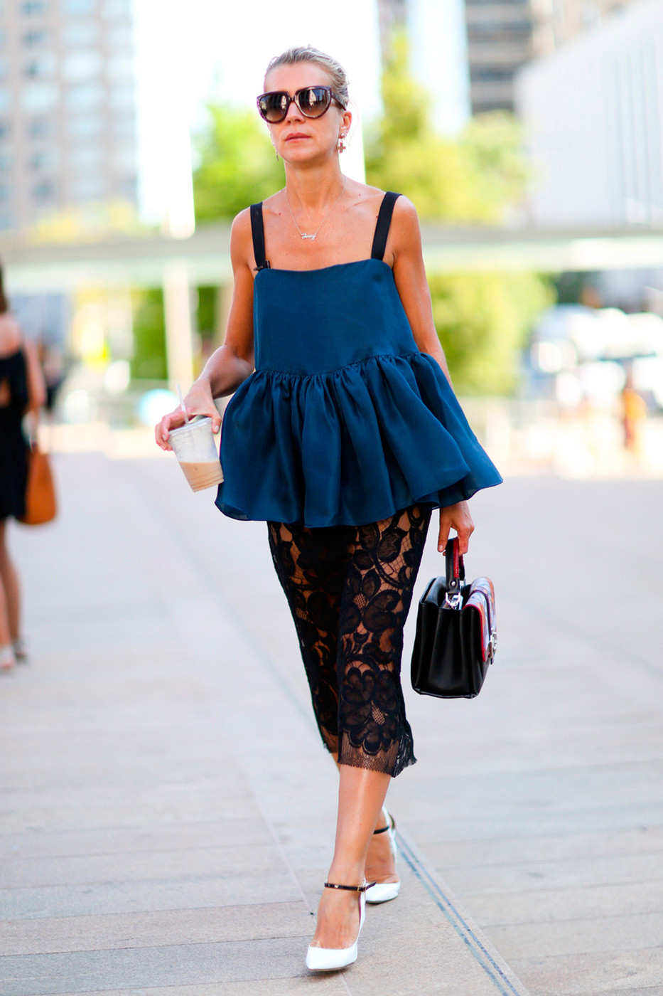 Ruffles And Lace Best Street Style From New York Fashion Week Spring 2015 Livingly