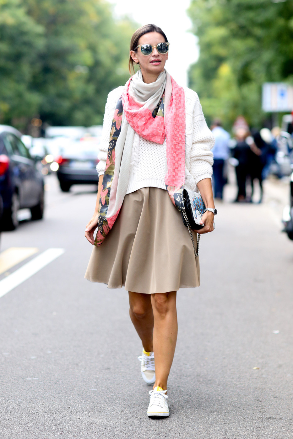 Scarf Down Best Street Style At Milan Fashion Week Spring 2015 Livingly