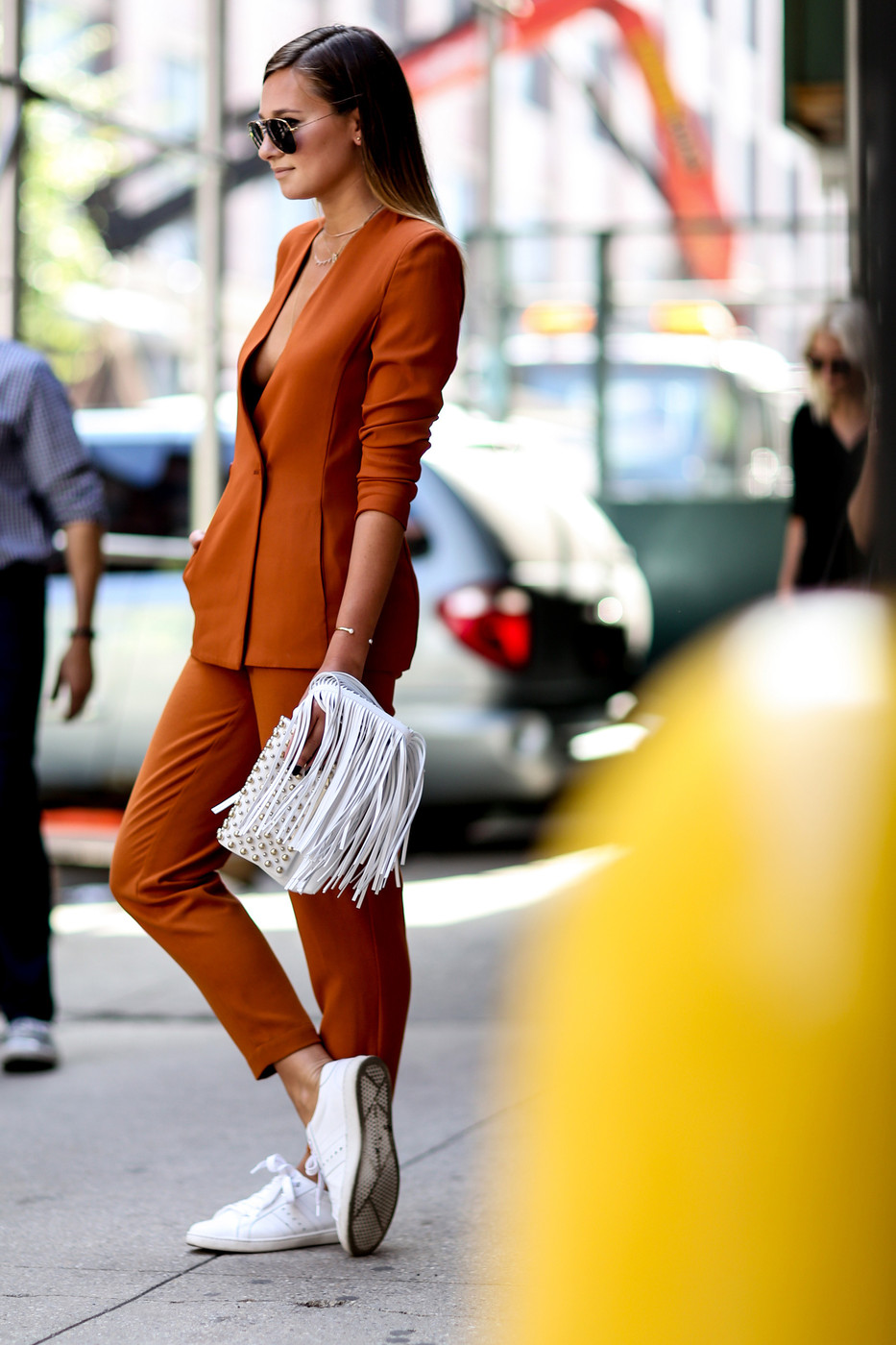 Burnt Orange Best Street Style From New York Fashion Week Spring 2015 Livingly