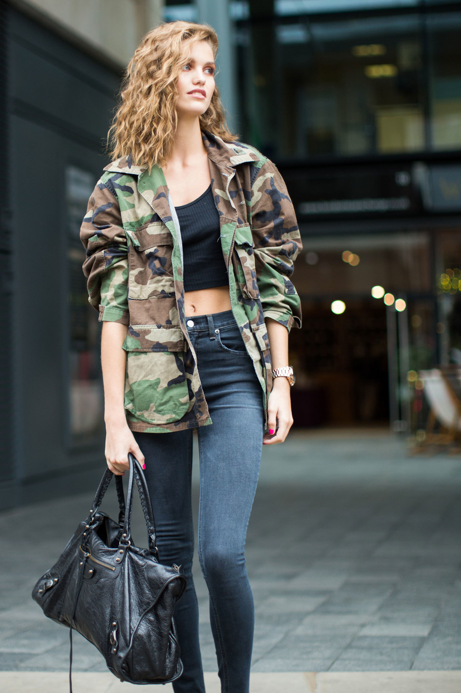 Camo The Best Street Style At London Fashion Week Spring 2017 Livingly