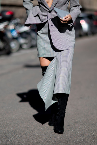 Torn Skirt Suit