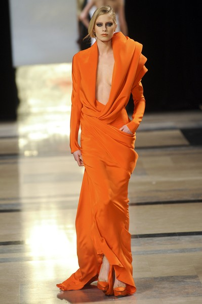 Stéphane Rolland at Couture Spring 2011 [fashion model,fashion,fashion show,runway,clothing,orange,haute couture,dress,event,fashion design,stephane rolland,haute couture,runway,fashion,clothing,spring,model,fashion model,couture spring 2011,fashion show,runway,fashion show,haute couture,fashion,model,fashion week,supermodel,spring,evening gown,clothing]