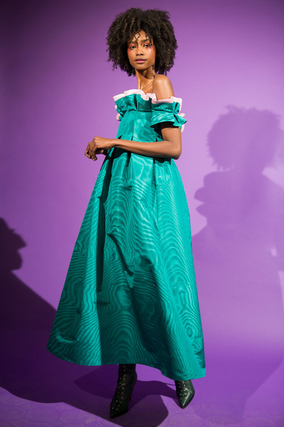 Talbot Runhof at Paris Fall 2018 (Backstage) [green,clothing,dress,purple,fashion,violet,formal wear,fashion model,hairstyle,pink,gown,fashion,purple,model,photography,photo shoot,haute couture,pence,paris fashion week,fashion show,fashion show,photo shoot,haute couture,gown,fashion,model,purple,two pence,photography]