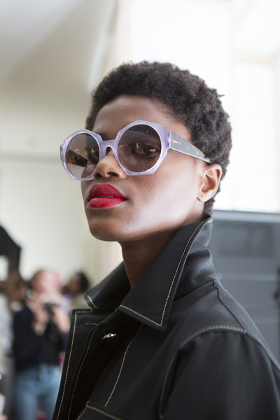 Temperley London at London Spring 2018 (Backstage) [eyewear,sunglasses,glasses,cool,fashion,street fashion,beauty,vision care,hairstyle,lip,sunglasses,goggles,hairstyle,glasses,textile,eyewear,street fashion,beauty,temperley london,london fashion week,sunglasses,glasses,goggles,textile,hairstyle,beauty.m,hair salon hairstyle m]