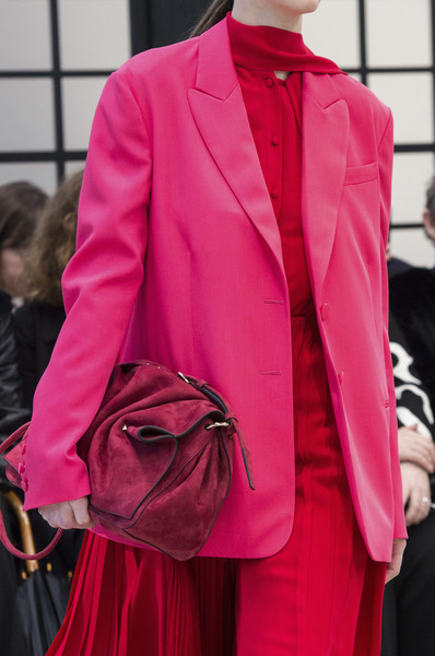 Valentino at Paris Fall 2018 (Details) [pink,clothing,fashion,red,outerwear,haute couture,magenta,formal wear,suit,blazer,blazer,haute couture,fashion,model,jacket,runway,pink,clothing,paris fashion week,fashion show,blazer,fashion,model,jacket,runway,fashion show,haute couture]