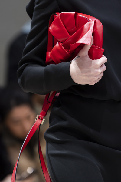 Valentino at Paris Fall 2020 (Details) [red,arm,rose,hand,joint,flower,outerwear,plant,rose family,carmine,rose,valentino,family,fashion,red,arm,hand,plant,h m,paris fashion week,fashion,h m]
