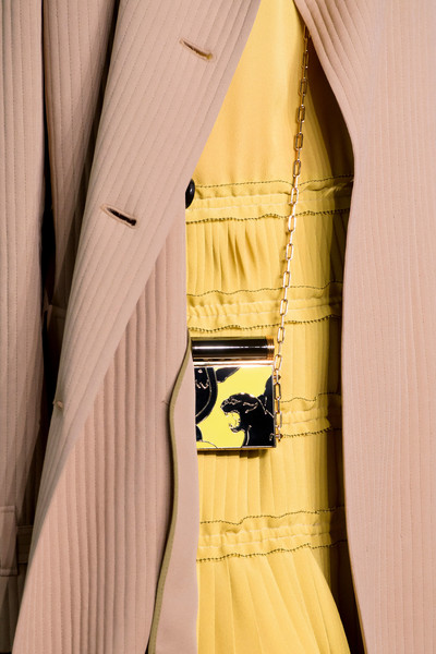 Valentino at Paris Spring 2017 (Details) [yellow,clothing,dress,outerwear,beige,formal wear,textile,jacket,haute couture,suit,dress,outerwear,valentino,clothing,yellow,clothes hanger,textile,jacket,haute couture,paris fashion week,clothes hanger,dress,clothing,yellow]