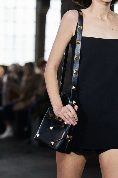 Valentino at Milan Spring 2021 (Details) [clothing,shoulder,black,fashion,street fashion,fashion model,waist,neck,joint,yellow,dress,handbag,valentino,arthur arbesser,fashion,street fashion,fashion model,waist,milan fashion week,fashion show,fashion show,fashion,handbag,valentino,arthur arbesser,little black dress,ready-to-wear,societe nouvelle de chemiserie arnys,ashish]