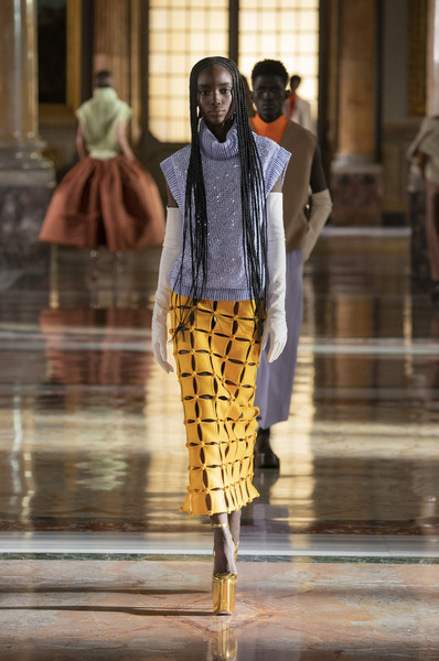 Valentino at Couture Spring 2021 [couture spring 2021,outerwear,sleeve,waist,street fashion,thigh,knee,luggage and bags,runway,fashion model,fashion design,keyboard,outerwear,valentino,human,fashion,street fashion,sleeve,waist,thigh,fashion,human,model m keyboard]