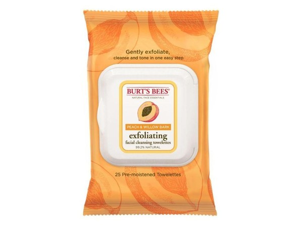 Burt's Bees Peach & Willow Bark Exfoliating Facial Cleansing Towelettes